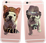 MAYCARI® Fashion Shar-Pei Transparent TPU Back Case for iPhone 6/iphone 6S(Assorted Colors)