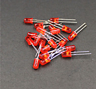 635~645nm 800~1000MCD 5mm LED - Red (20-Piece Pack)