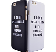 Letter Pattern Smooth Surface PC Hard Back Cover Case for iPhone 6Plus/6S Plus (Assorted Colors)