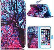 geprägt farbige Zeichnung oder Muster PU Ledertasche mit Magnetverschluss und Kartensteckplatz für iPhone 4 / 4S