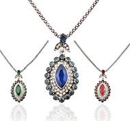 Multi-slice Diamond Luxury Retro  Silver Diamond Necklace