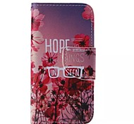 Safflower Pattern Cell Phone Leather For iPhone 5/5S