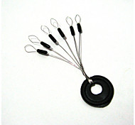 anmuka 10 pc 6 em 1 negro / multi borracha tope oval de pesca bobber flutuar