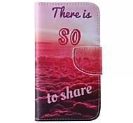 cuir de téléphone motif de l'amour pour Samsung Galaxy J5