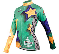ilpaladinoSport Women Long sleeve Cycling Jersey New Style    CX601 Star Travel  100% Polyester