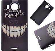 Smiling Teeth Pattern PC Hard Cover Case for NOKIA 950 XL