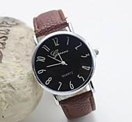 Mulheres Relógio de Moda Quartz Couro Banda Preta / Branco / Marrom marca-