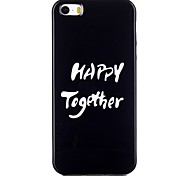 Happy together Pattern TPU Phone Case for iPhone 5/iPhone 5S