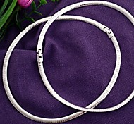 Silver Tone Metal Jewelry Necklace Collar Choker 6mm HOT