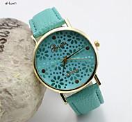Mulheres Relógio de Moda Quartz Couro Banda Relógio de Pulso