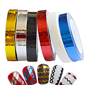 6pcs Nail Stripping Tape New 2015 Waves Line Strips Decor Adhesive Tips Sticker Decals Wraps Tools Nail Art
