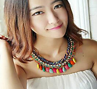 Bohemia Multilayer Weave Statement Necklaces Wedding / Party / Daily / Casual 1pc