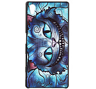 Для Кейс для Sony / Xperia Z5 С узором Кейс для Задняя крышка Кейс для Кот Твердый PC для Sony Sony Xperia Z5 / Sony Xperia M4 Аква