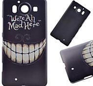 Smiling Teeth Pattern PC Hard Cover Case for NOKIA 950