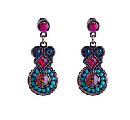 National Style Colorful Jewel Resin Beads Earring
