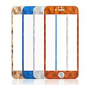 protector de pantalla de borde redondo de fibra de carbono hd película endurecido claro de vidrio templado para iPhone6 / 6s 4,7