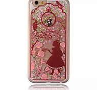 Girl And Rabbit Pattern Sparkle Stars Quicksand Liquid PC Hard Phone Case for iPhone 5/5S