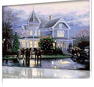 DIY цифровой живописи маслом кадр картины семейного отдыха все сам замок вилла x5013