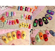 Beautiful Fluorescence Nail Art Stickers QJ09-12(4pcs)