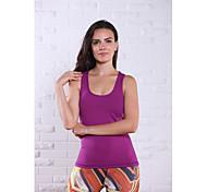 Laufen Tank Tops Damen Ärmellos Atmungsaktiv Nylon Yoga Königin Yoga Sportbekleidung Dehnbar Purpur / Dunkelpurpur Sommer XS / S / M / L