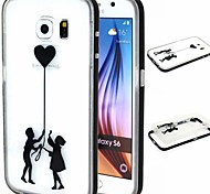 2-in-1 The Boy And Girl TPU Back Cover with PC Bumper Shockproof Soft Case for Samsung Galaxy S5/S6/S6 Edge/S6 Edge Plus