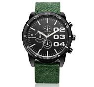 Men's Racing Design Fabric Strap Quartz Casual Watch