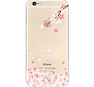 Pink Plum Blossom Pattern TPU Soft Phone Case for iPhone 6/6S