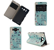 Free Flying Pattern PU Leather Full Body Cover with Stand for Nokia Lumia 950XL N950XL