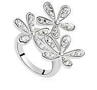 Lureme® Fashion Snowflake Rhinestone Ring