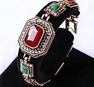 Polygon Large Gem Diamond Bracelet Turkish Jewelry