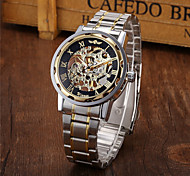 Men's Watch Mechanical Golden Skeleton Stainless Steel