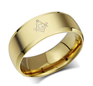 Z&X® Fashion Scrub Titanium Steel Ring Band Rings Party / Daily / Casual 1pc
