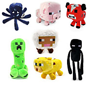 Baby Squid Creeper Enderman Mooshroom Pig Sheep Plush Toys(7pcs/lot)