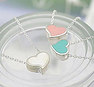 Sweet Heart Peach Pendant Necklac Clavicle Chain