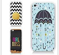 caso paraguas línea de carta patrón de diseño de teléfono pc caso de la contraportada para iPhone6