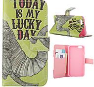 elefante patrón de día de suerte de la PU cuero de la cubierta de cuerpo completo con soporte para el iphone 6 6s / iphone