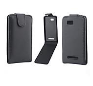 Für HTC Hülle Flipbare Hülle Hülle Handyhülle für das ganze Handy Hülle Einheitliche Farbe Hart PU - Leder HTC