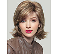 Woman's Mix Color Curly Short Synthetic Mix Wigs