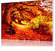 DIY Digital Oil Painting  Frame Family Fun Painting All By Myself  The Autumn Leaves Dance X5027