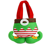 Hot Sale Fashion Christmas Santa Pants Elf Spirit Candy Bags Xmas Decoration Sack Cute Child Gift Soft Cloth Red