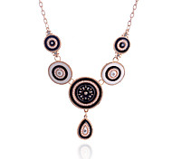 European Style  Retro  Water Drop Drill Pendant Beads Alloy Necklace