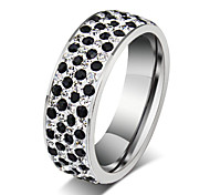 Z&X® Fashion  Personality Rhinestone Titanium Steel Ring Band Rings Party / Daily / Casual 1pc