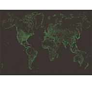 Wall Stickers Wall Decals, Luminous World Map PVC Wall Stickers
