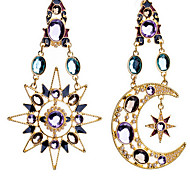 Drop Earrings Cubic Zirconia Gold Plated Simulated Diamond Screen Color Jewelry 2pcs