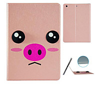 Pink Pig  Pattern Stereo Eye Stent Case for iPad Air 2