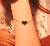 Fashion Women Black Love Alloy Bangle Gift Jewelry