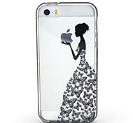 2-in-1-Schmetterlingsrock-Muster-TPU rückseitige Abdeckung mit pc Autostoßfest Hülle für iPhone 5 / 5s
