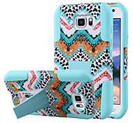 Silicone Gel Rubber Case With PC Stand cover Skin For Samsung S6 Active (Assorted Colors)