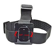gopro accessori cinghia testa di 360 gradi black edition per go pro eroe 1234 telecamera xiaomi yi sjcam sj4000 sj5000