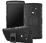 TPU+ PC Hybrid Rugged Rubber Armor stand Hard Cover Cases For LG G3/G4/G3 Mini